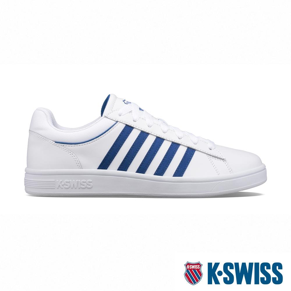 K-SWISS Court Winston 時尚運動鞋-男-白/經典藍