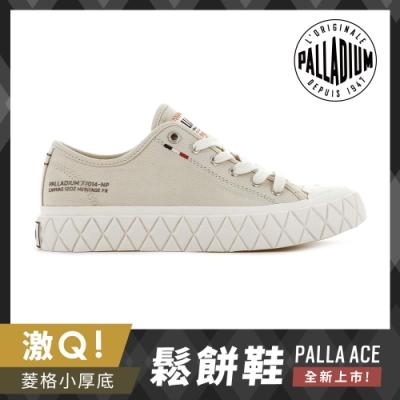 PALLADIUM PALLA ACE CVS格紋厚底帆布鞋-中性-沙漠米