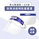 超值2入組【防疫必備】成人輕量款 防飛沫 透明防護面罩(非醫療) product thumbnail 1
