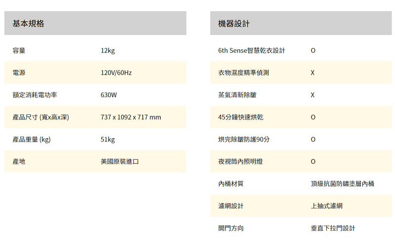 whirlpool惠而浦12公斤瓦斯型下直立乾衣機 WGD4850HW 另有WED5000DW WGD5000DW