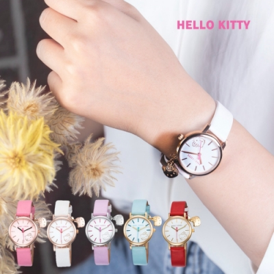 [時時樂限定]HELLO KITTY 可愛貓頭吊飾俏皮手錶-五款任選