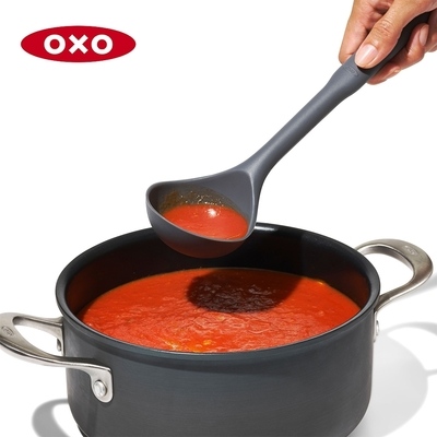 美國OXO 全矽膠長柄湯杓(快)