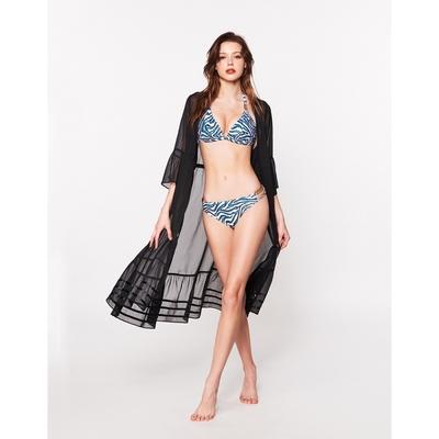 WAVE SHINE-薄紗荷葉袖渡假罩衫(二色)-女【B5WF014】
