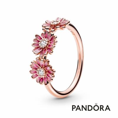【Pandora官方直營】粉紅三雛菊戒指