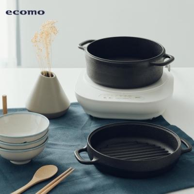 【超值組合】ecomo AIM-CT103 IH爐+萬用鐵鍋組