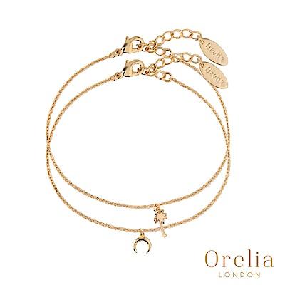 Orelia 英國倫敦 魅力棕梠樹&月牙鍍金手腳練組