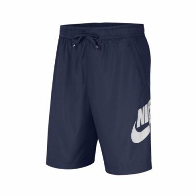 Nike 短褲 NSW Woven Shorts 男款 運動休閒 基本款 膝上 穿搭 藍 白 CJ4441410