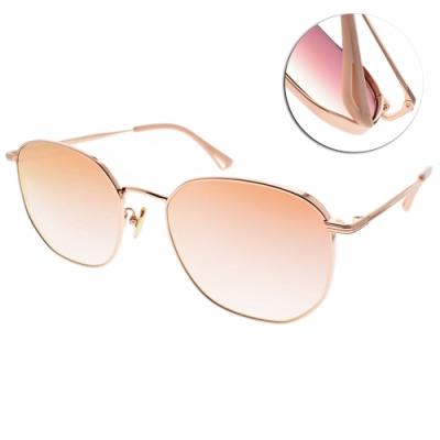 NINE ACCORD太陽眼鏡  簡約典雅多邊款/玫瑰金-粉水銀漸層粉鏡片#KISSING BANT C4