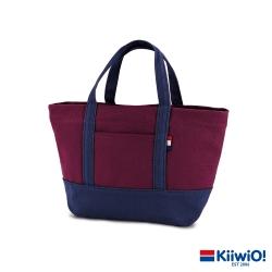 Kiiwi O! 輕便隨行系列帆布托特包 ANNE 藍x紅 (速)
