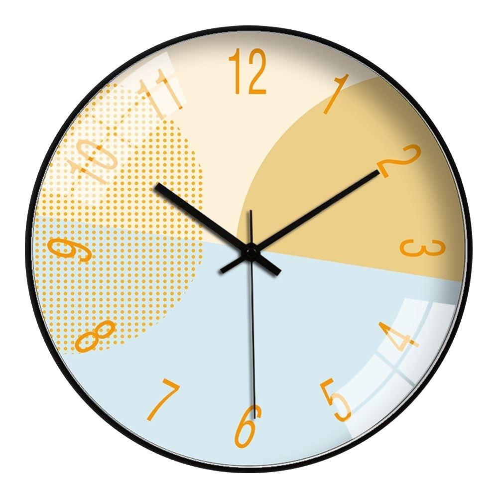 【FJ】北歐風玻璃鏡面靜音掛鐘(風格必備掛鐘)