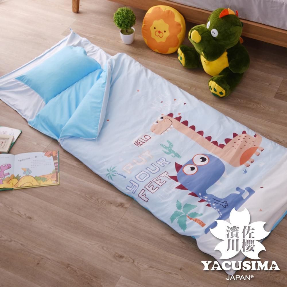 濱川佐櫻 MIT加長版可愛風大版面兒童睡袋 - 恐龍世界