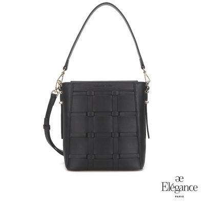 【Elegance】WEAVE皮革編織包-黑色