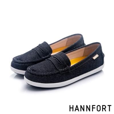 HANNFORT 澳洲 CALIFORNIA經典帆布便士樂福鞋 女 黑