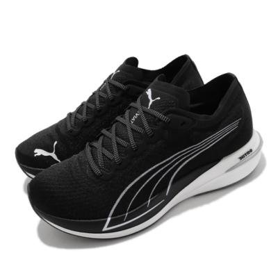 Puma 慢跑鞋 Deviate Nitro 運動 男鞋 輕量 透氣 舒適 避震 路跑 健身 黑 白 19444902