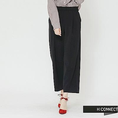 H:CONNECT 韓國品牌 女裝-質感純色寬褲-藍