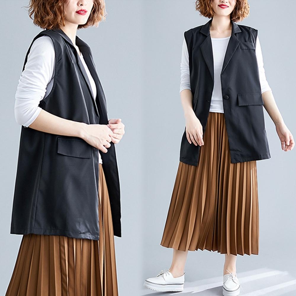 【韓國K.W.】(現貨) 韓版時尚氣質背心外套