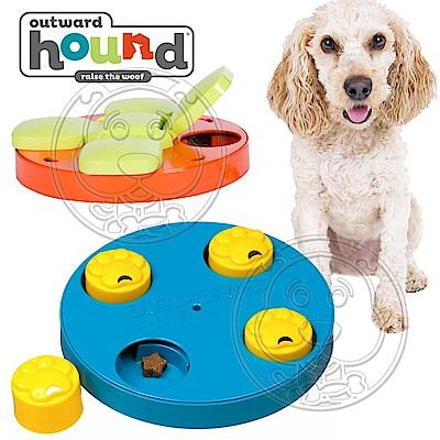 美國Outward Hound》寵物益智大圓盤/爪子翻盤藏食玩具