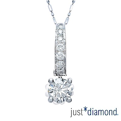 (無卡分18期) Just Diamond 築心 GIA 0.5克拉18K金鑽石墜子
