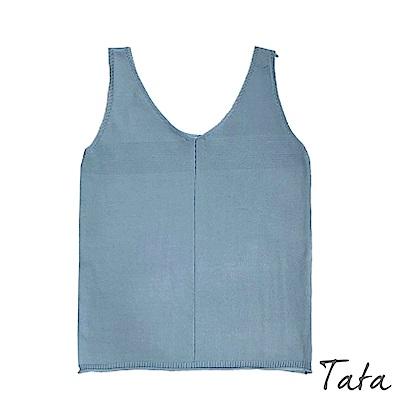 百搭V領針織背心  TATA