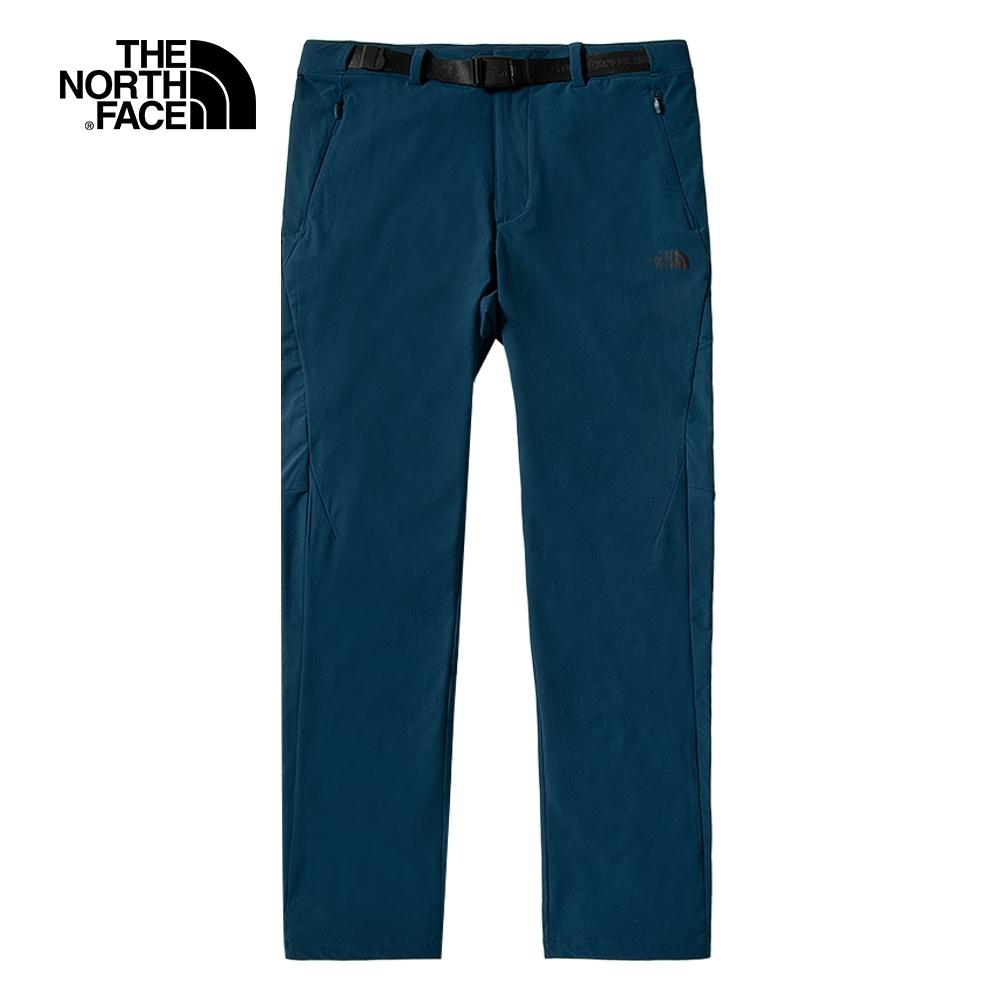 The North Face北面男款藍色防潑水戶外徒步褲 4UANBH7
