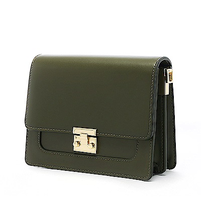 ANNA DOLLY 甜美細緻Tender夾層小方包 古典綠