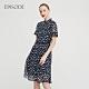 EPISODE - 藍色浪漫印花立領收腰短袖洋裝 product thumbnail 1