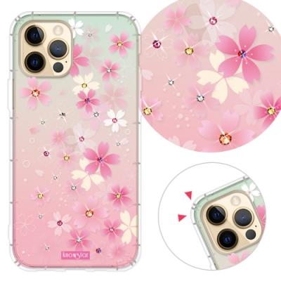 KnowStar iPhone 12 / i12 Pro 6.1吋 奧地利彩鑽防摔手機殼-櫻花町