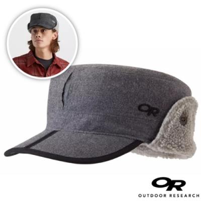 Outdoor Research 新款 YUKON CAP 內刷毛保暖覆耳羊毛帽子/棒球帽(可遮耳)_淺灰