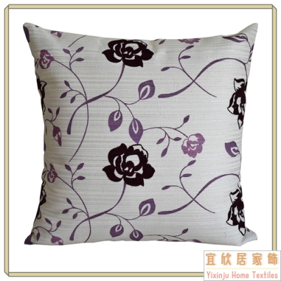 【宜欣居傢飾】愛戀薔薇-沙發絨布抱枕45*45cm- 桃紅 (枕套含枕芯2入) 台灣製