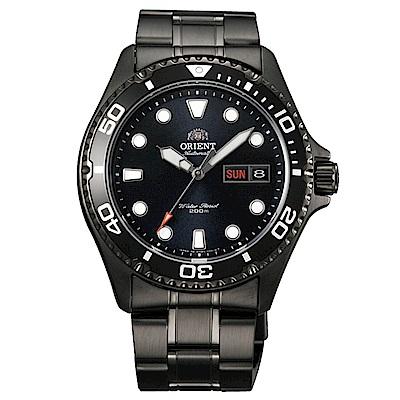 ORIENT 黑水探險潛水機械男錶(FAA02003B9)-黑/41mm