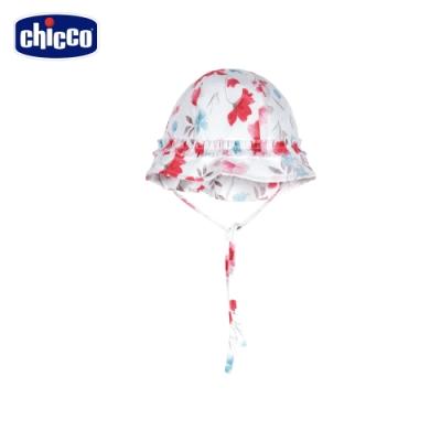Chicco- 春之頌-選染花朵綁帶帽