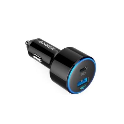 美國Anker車充電器PowerDrive PD Speed+ 2孔48W車用USB充電器A2229H12(30W USB-C和18W USB-A各1)