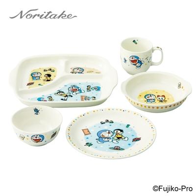 【NORITAKE】哆啦A夢-童趣系列  餐盤5件組(圓盤x2/馬克杯/飯碗/分隔盤)