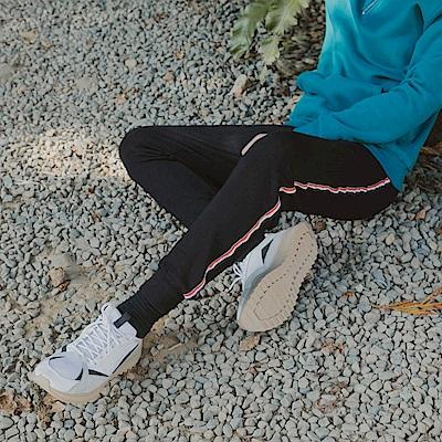 高含棉側邊織條彈性腰頭縮口休閒褲/運動褲-OB嚴選