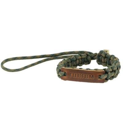 FUJIFILM 軍綠風傘繩手腕帶