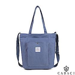 CABACI 韓風大口袋帆布肩背斜背托特包-共4色