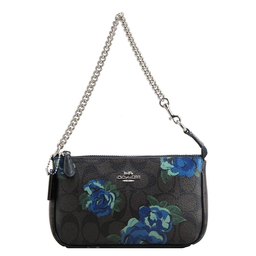 COACH小包-經典LOGO手提包(花卉)