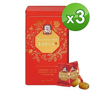 【正官庄】高麗蔘糖240g/盒*3盒