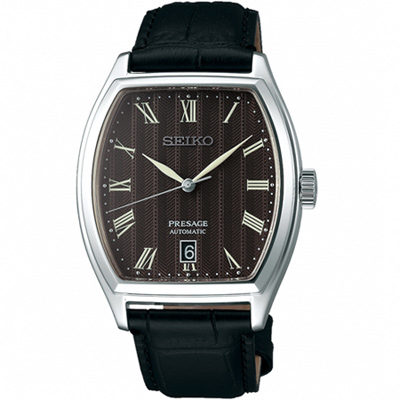 SEIKO Presage 經典時尚機械腕錶(SRPD07J1)黑37mm