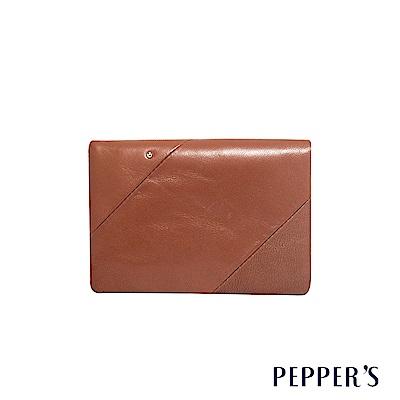 PEPPER S Ellie 羊皮三折中夾 - 咖啡棕