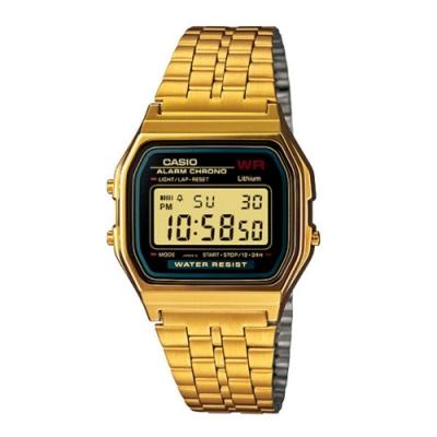 CASIO卡西歐 復古方形經典電子錶(A159WGEA-1)