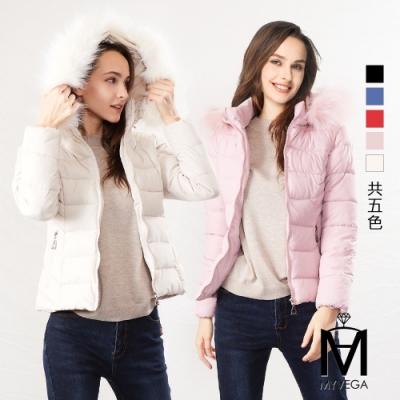 麥雪爾 MA保暖羽絨棉短版連帽外套-五色任選