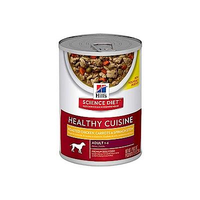 希爾思 成犬主食罐頭-香烤雞肉燉胡蘿蔔及菠菜354g-12罐組