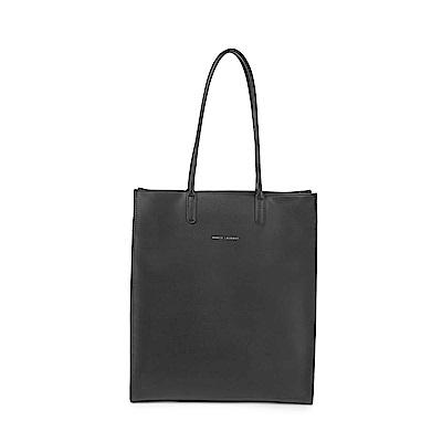 MARCO LAURENT Smooth柔軟手感長型托特包 - 黑色