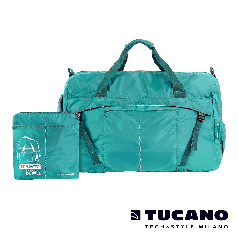 TUCANO COMPATTO 超輕量防水尼龍折疊收納旅行包-天空藍