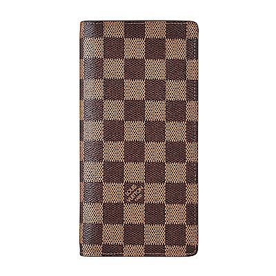 (無卡分期12期)LV N60017 BRAZZA棋盤格直立對折長夾