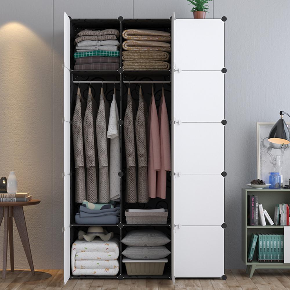 【Mr.Box】15格15門2掛衣櫥收納櫃/整理收納組合櫃