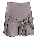 【ohoh-mini 孕婦裝】心機女孩百折低腰綁帶孕婦褲裙