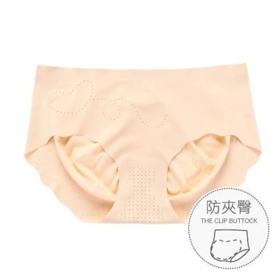 無痕內褲 升級裸感防夾臀冰絲女性內褲 M-XL (膚色) alas