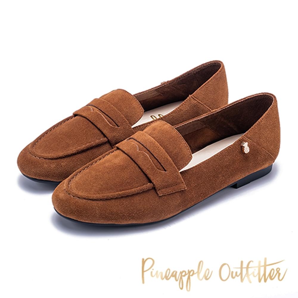 Pineapple Outfitter 復古英倫 樂福平底鞋-棕色